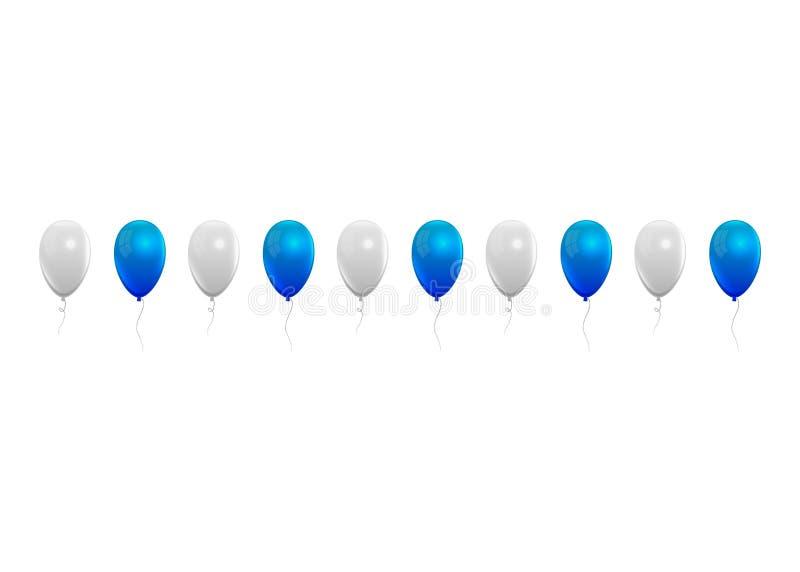 Fond réaliste de ballons Octoberfest colore le fond illustration de vecteur