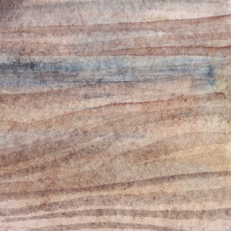Fond réaliste de texture de surface en bois brun clair de panneau d'aquarelle illustration de vecteur