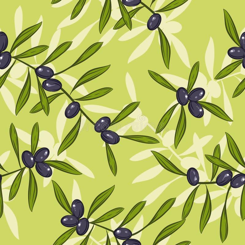 Fond réaliste sans joint d'huile d'olive illustration stock