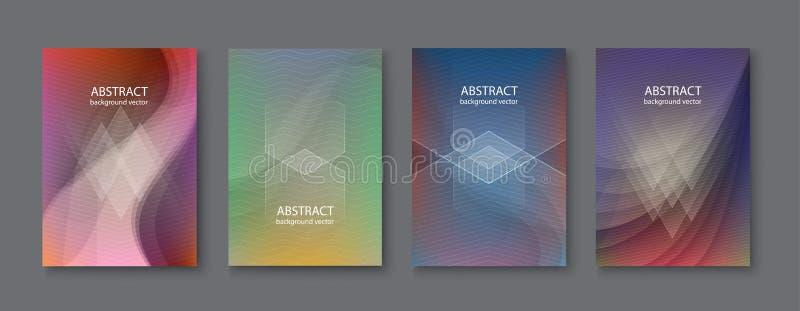 Fond réglé d'abstrait Illustration de vecteur illustration de vecteur