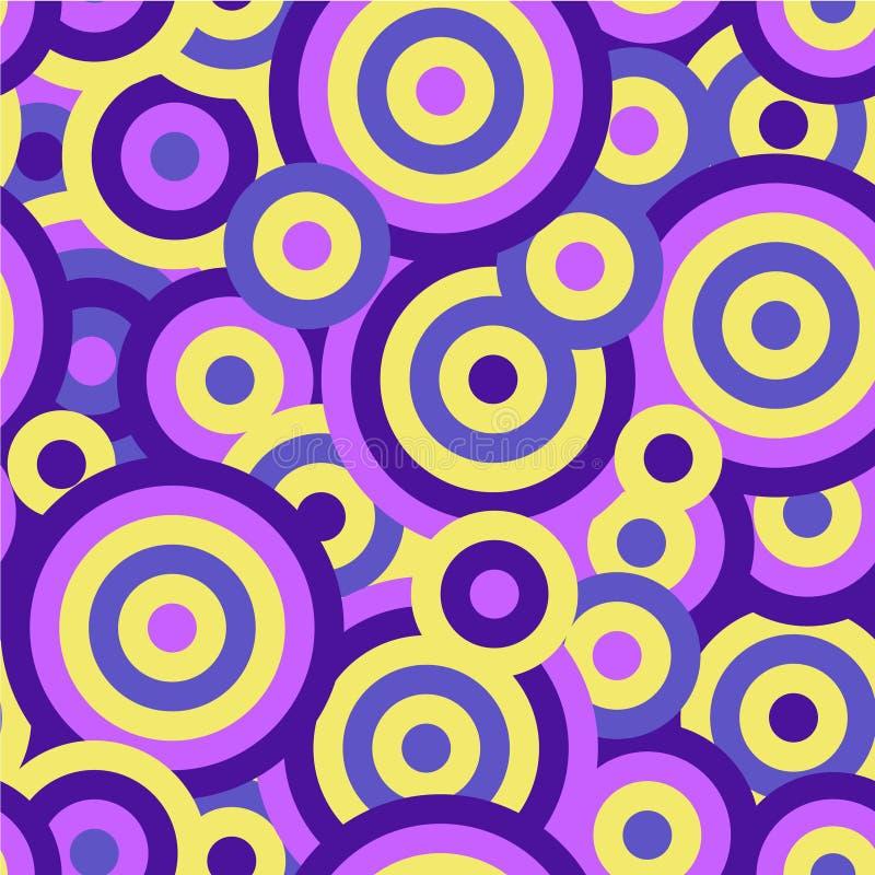 Fond répétitif sans couture de texture de modèle de vecteur de cercles colorés illustration stock