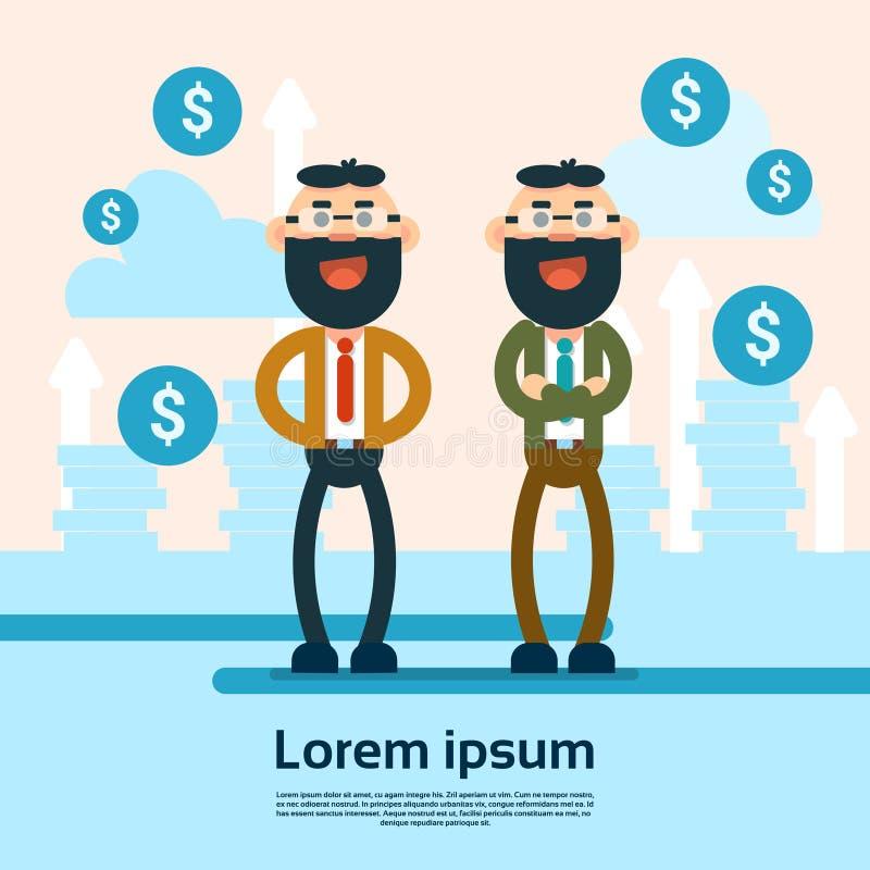 Fond réussi de croissance d'argent de Man Financial des affaires deux illustration de vecteur