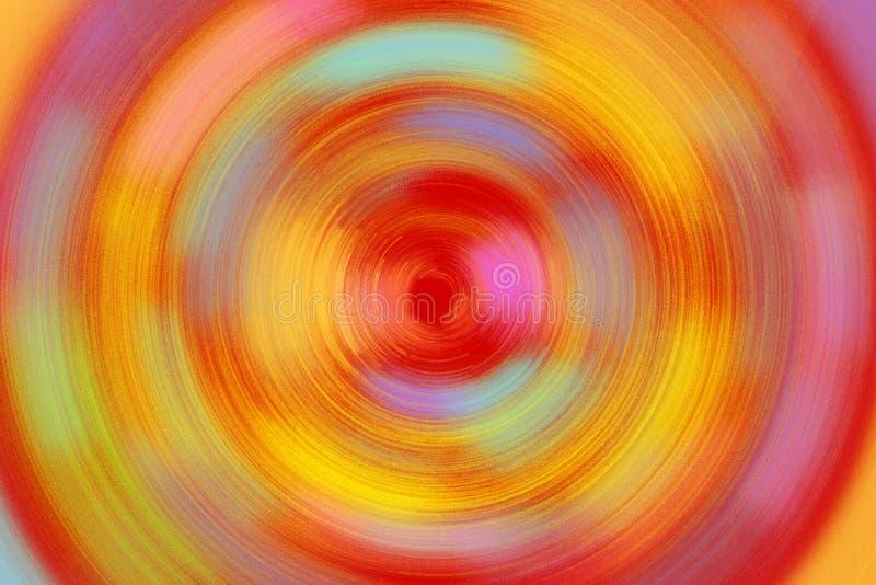 Fond radial lumineux de texture de couleur rouge et jaune et en pastel images libres de droits