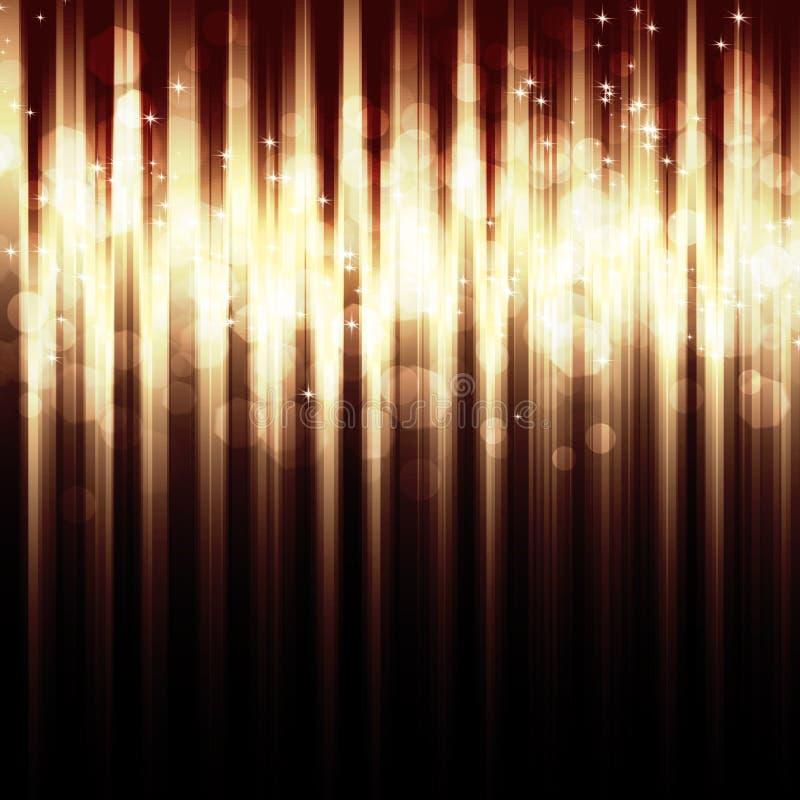 Fond rayé abstrait avec des lumières de bokeh illustration stock
