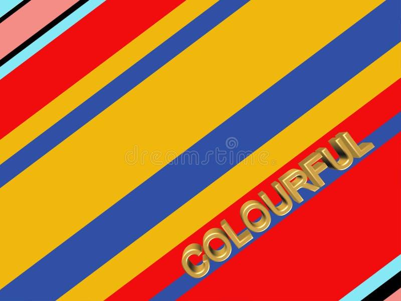Fond rayé abstrait coloré illustration stock