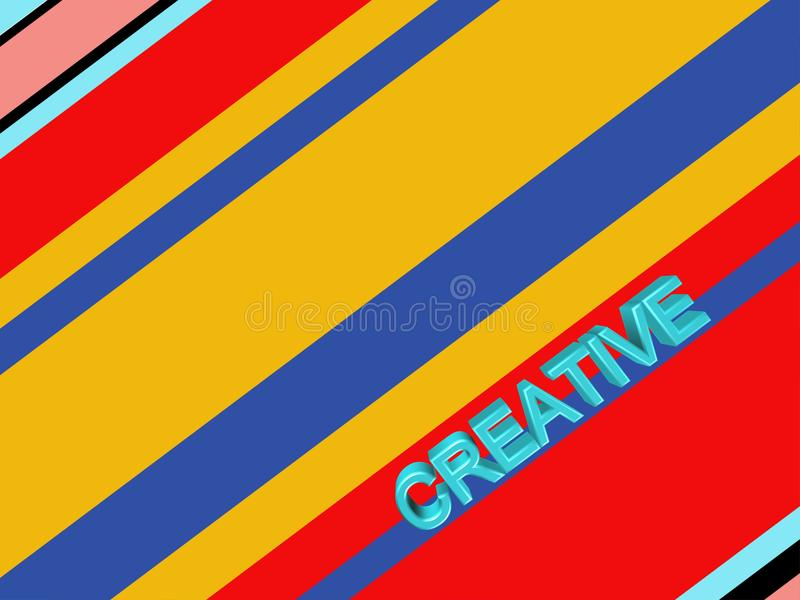 Fond rayé abstrait coloré illustration libre de droits