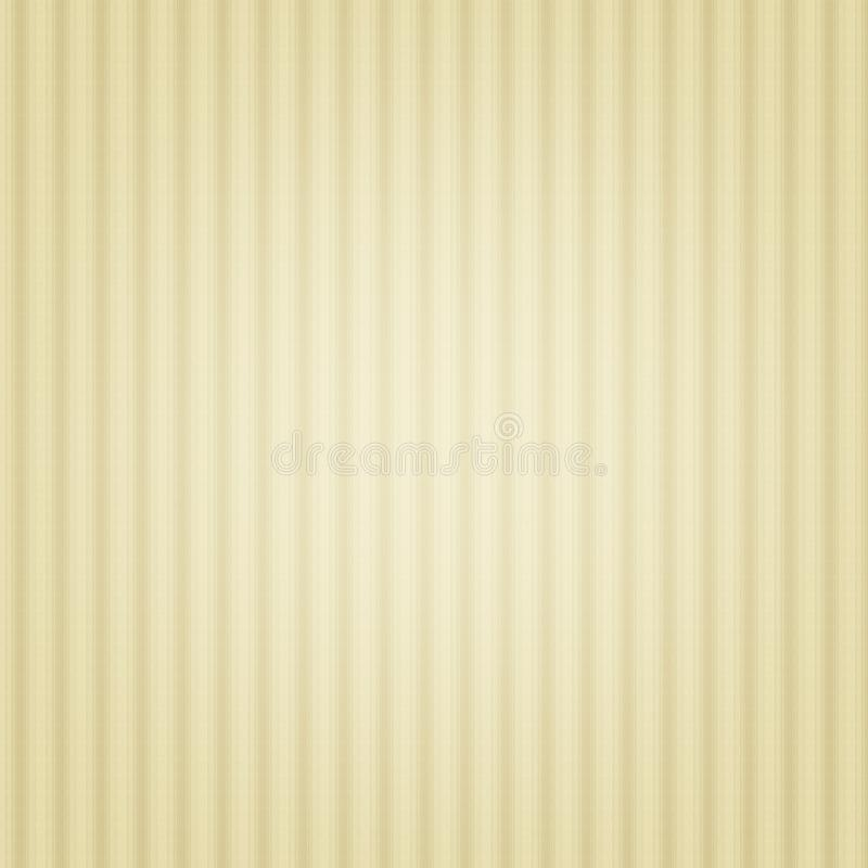 Fond rayé beige, rétro, vintage, mur, papier illustration stock
