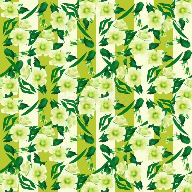 Fond rayé de texture florale sans couture de modèle illustration de vecteur