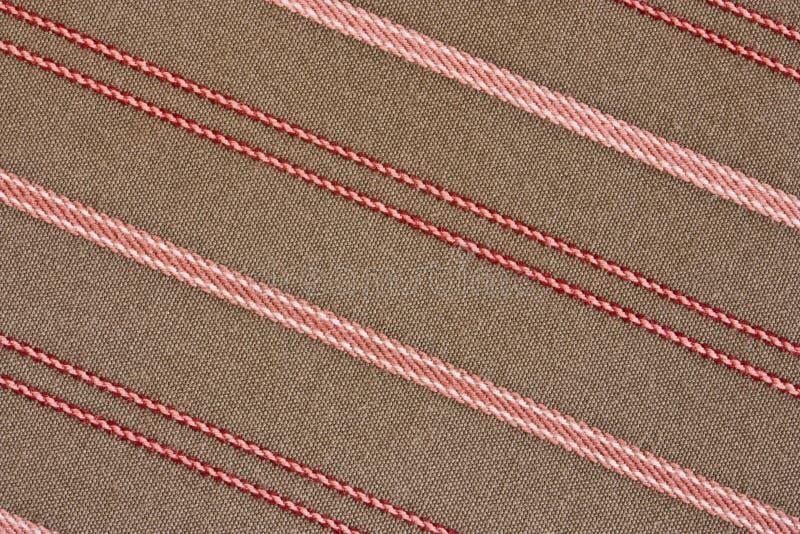 Fond rayé diagonal de tissu