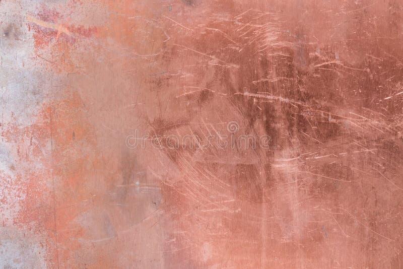 Fond rayé en métal d'en cuivre de texture photo stock