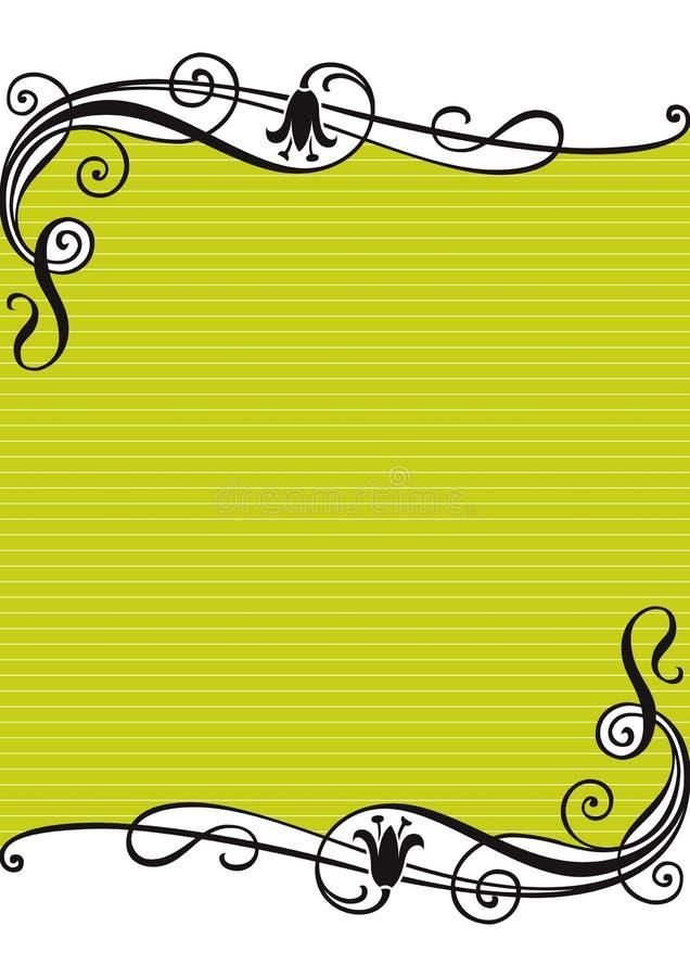 Fond rayé floral illustration libre de droits