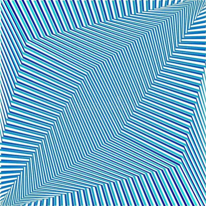 Fond rayé futuriste de résumé géométrique bleu Vecteur illustration stock