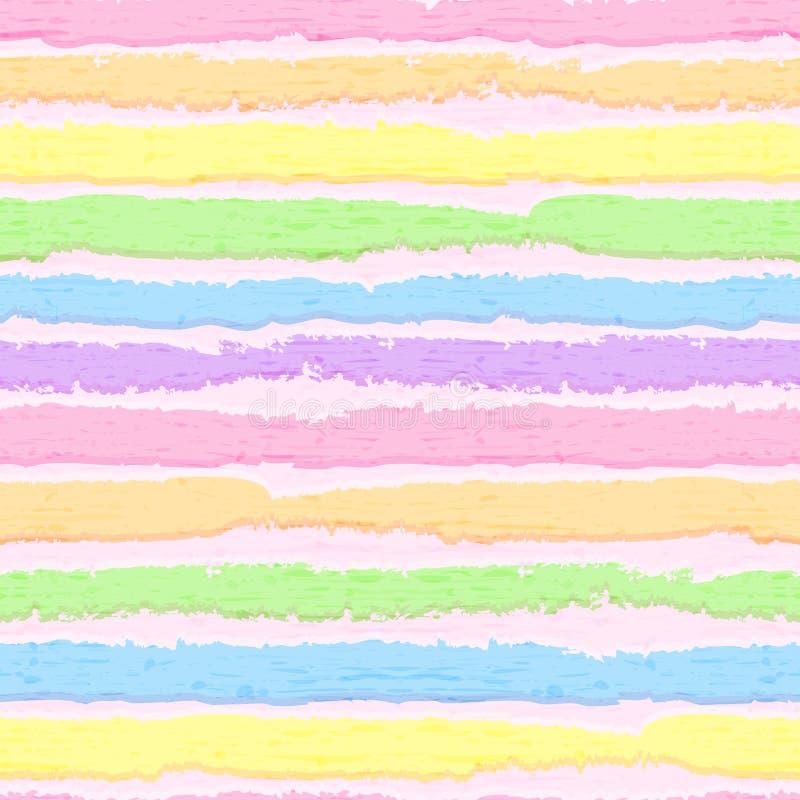 Fond rayé gai Arc-en-ciel abstrait Peinture de rayure Configuration sans joint Vecteur Eps10 Mod?le de rayure multicolore illustration de vecteur