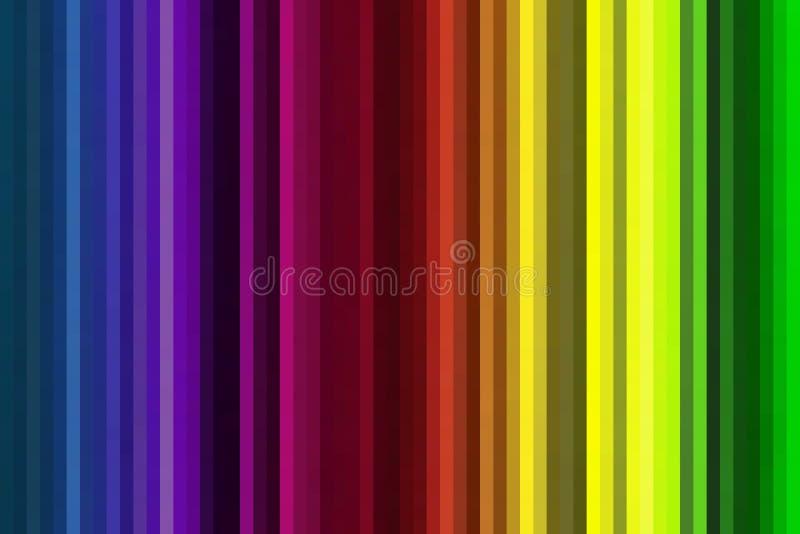 Fond rayé multicolore illustration stock