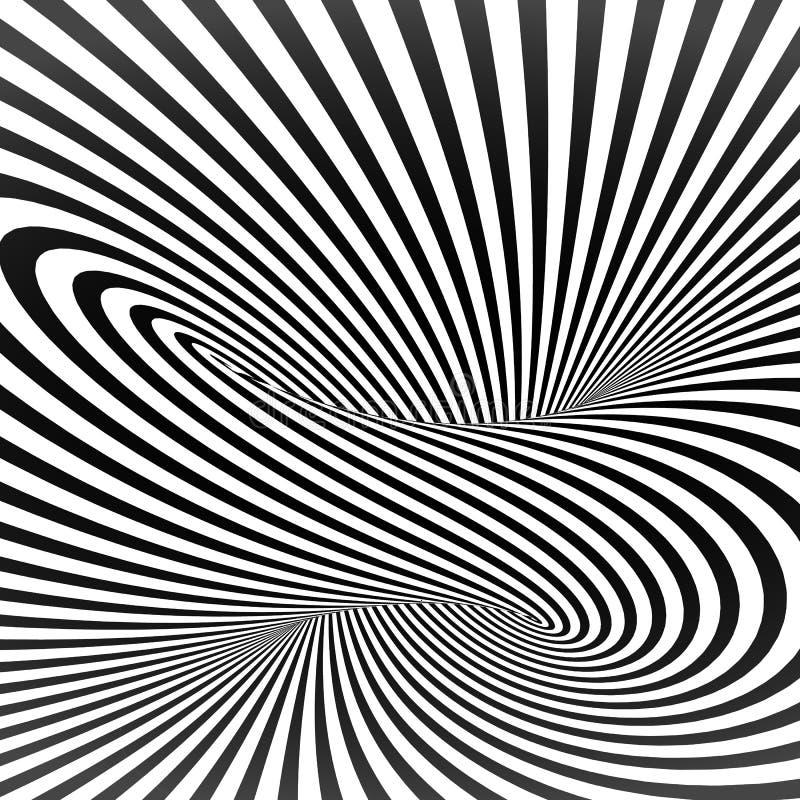 Fond rayé noir et blanc de vecteur abstrait illustration stock