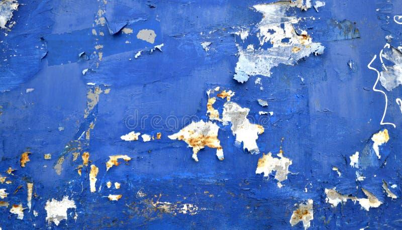 fond rayé par grunge bleu de carton image libre de droits