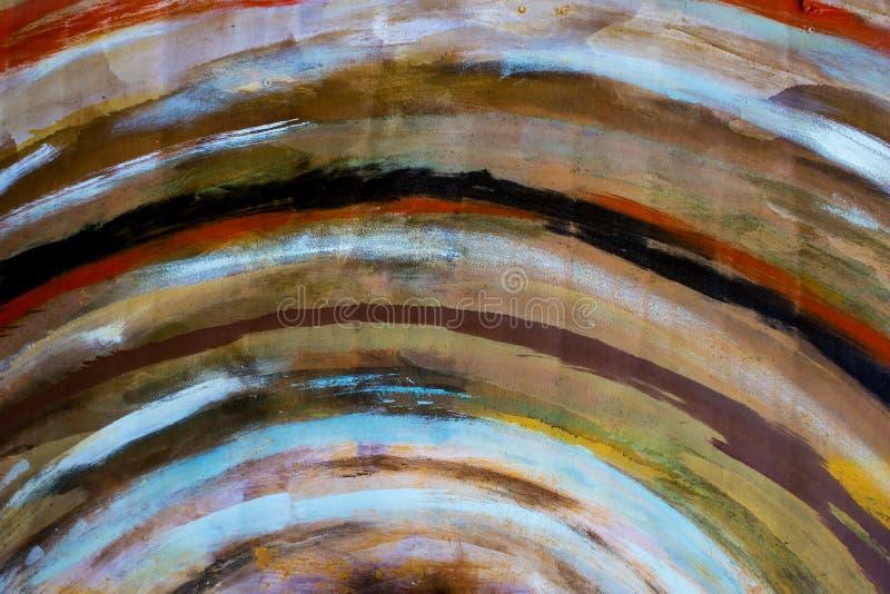 Fond ray? d'arc-en-ciel rayures colorées tirées Arc-en-ciel dans l'aquarelle Fond color? abstrait Peinture d'?goutture R?sum? photos libres de droits