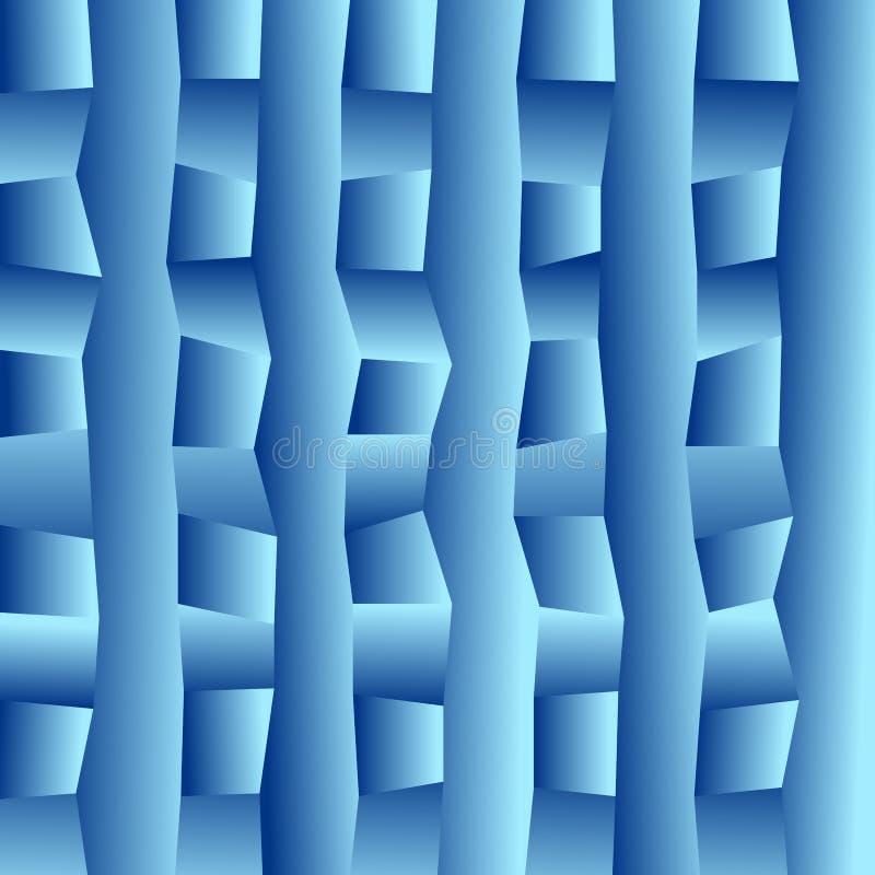 Fond rectangulaire trouble de vecteur bleu illustration stock