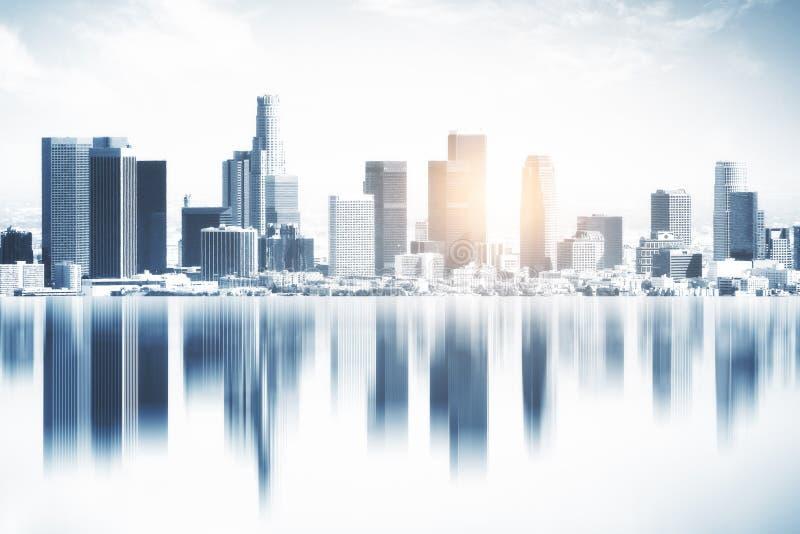 Fond reflété de ville illustration libre de droits