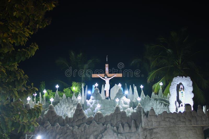Fond religieux de temple de l'Inde Jésus d'église de Noël photographie stock libre de droits