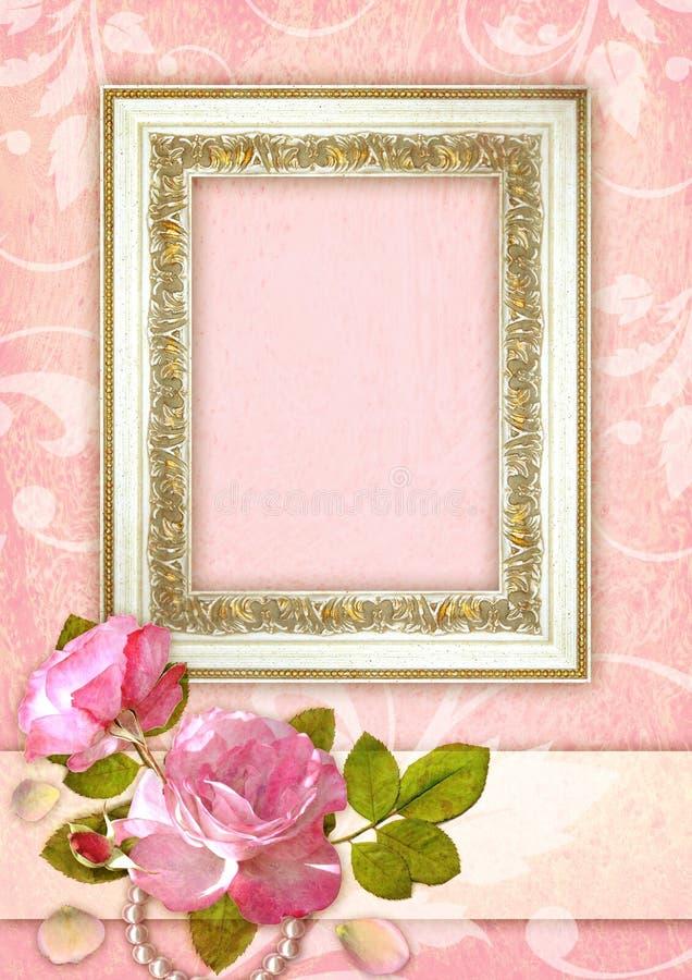 Fond romantique illustration stock