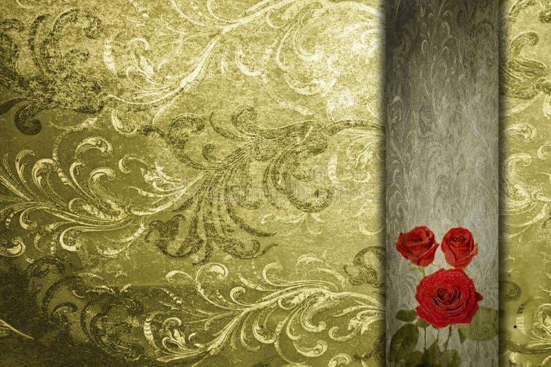 Fond romantique abstrait de cru de Valentine illustration libre de droits