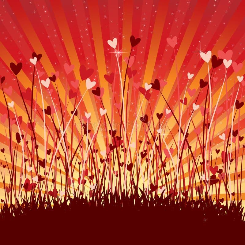 Fond romantique avec des coeurs illustration libre de droits