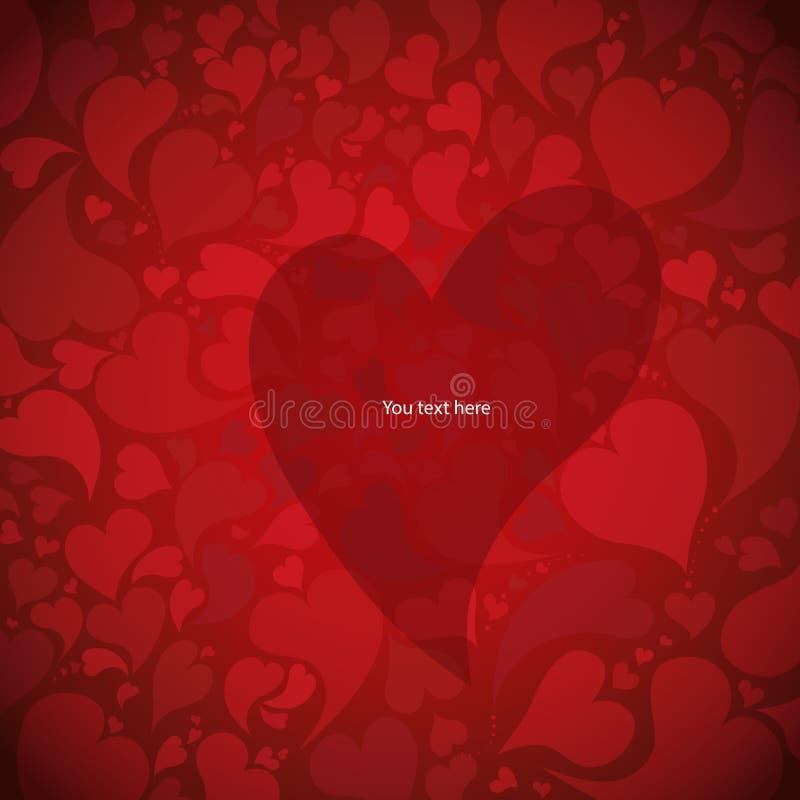 Fond romantique avec des coeurs illustration stock