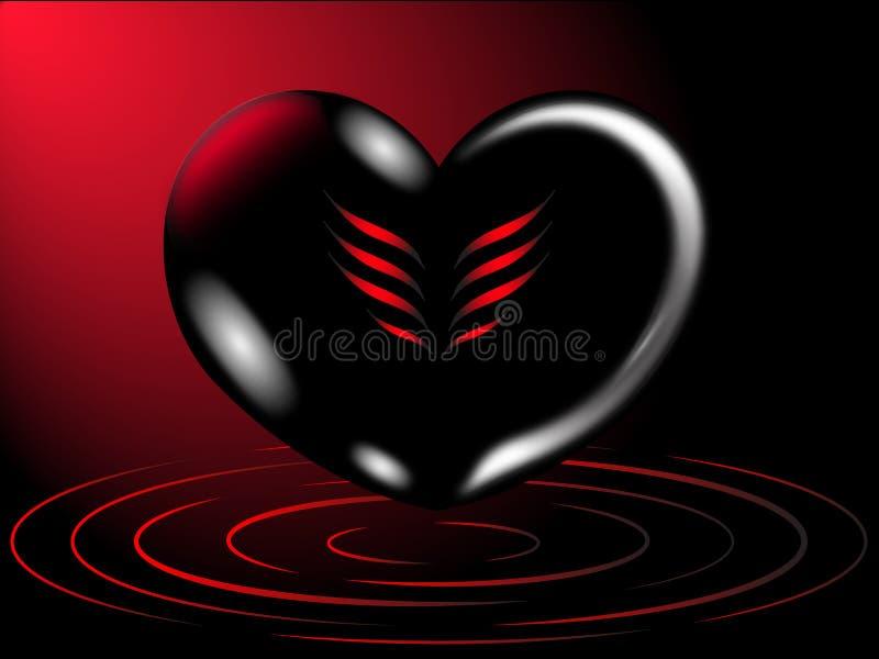 Fond romantique de coeur photographie stock libre de droits
