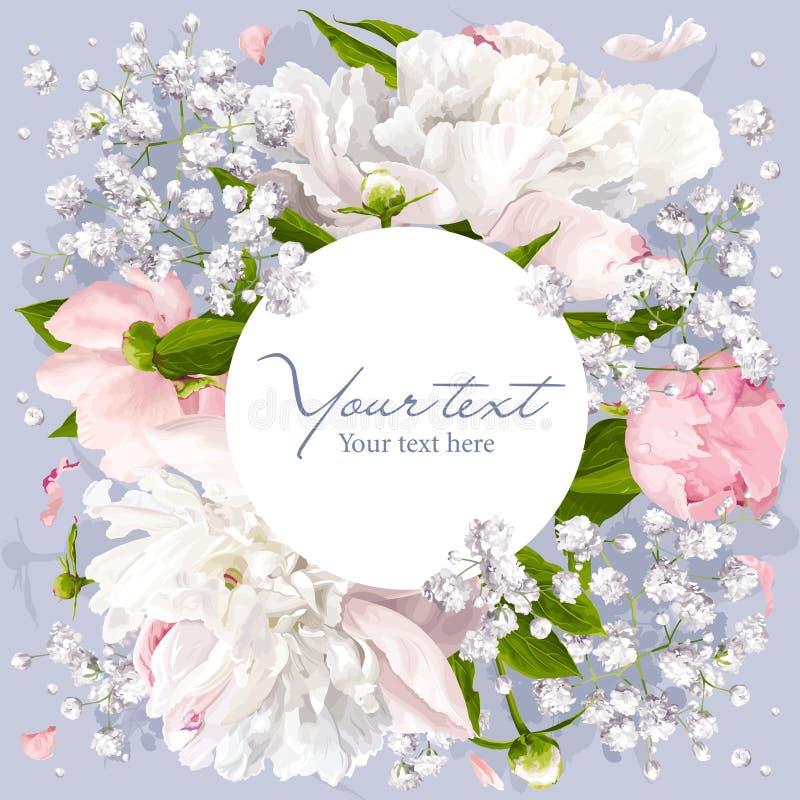 Fond romantique de fleur illustration libre de droits