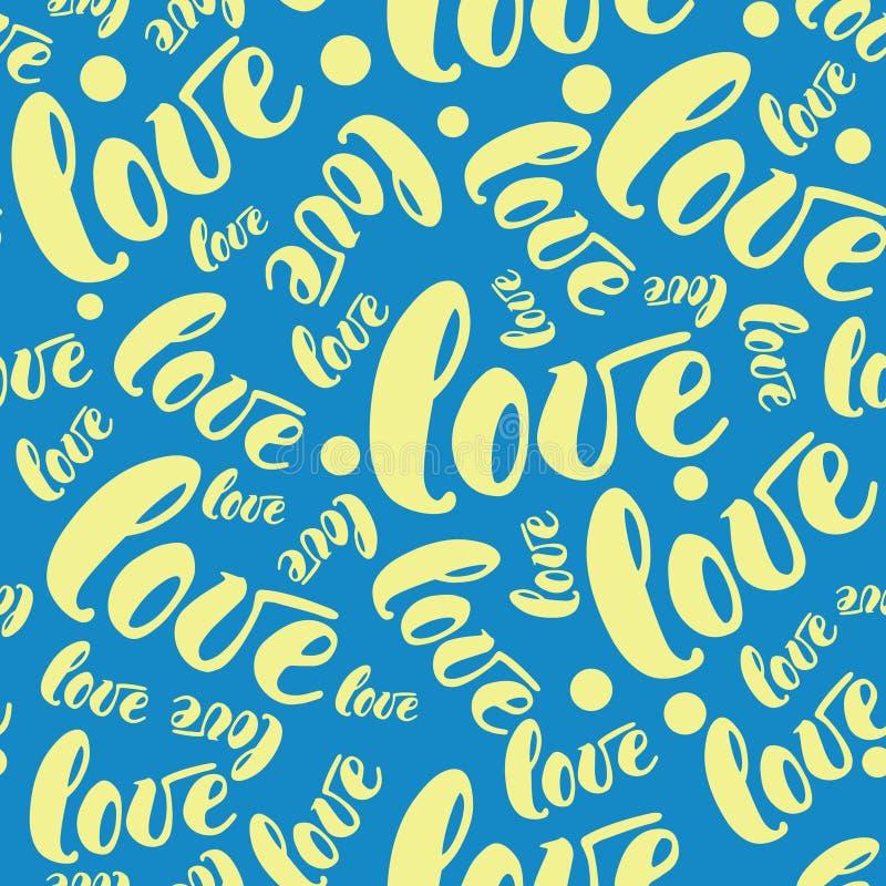 Fond romantique de modèle d'amour Illustration de vecteur pour la conception de vacances Beaucoup vol exprime l'amour sur le fond illustration libre de droits