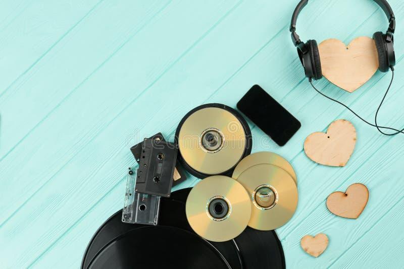 Fond romantique de musique image libre de droits