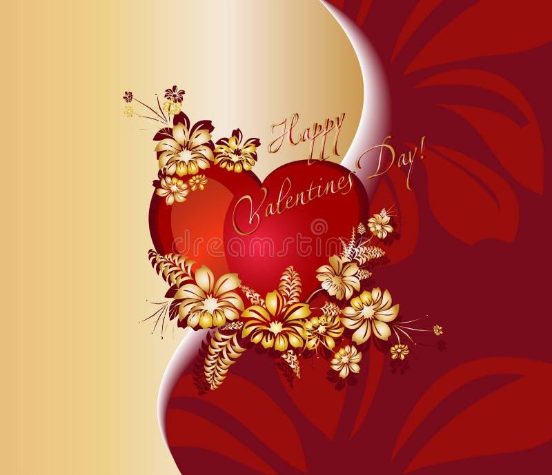 Fond romantique pour le jour de valentine illustration libre de droits