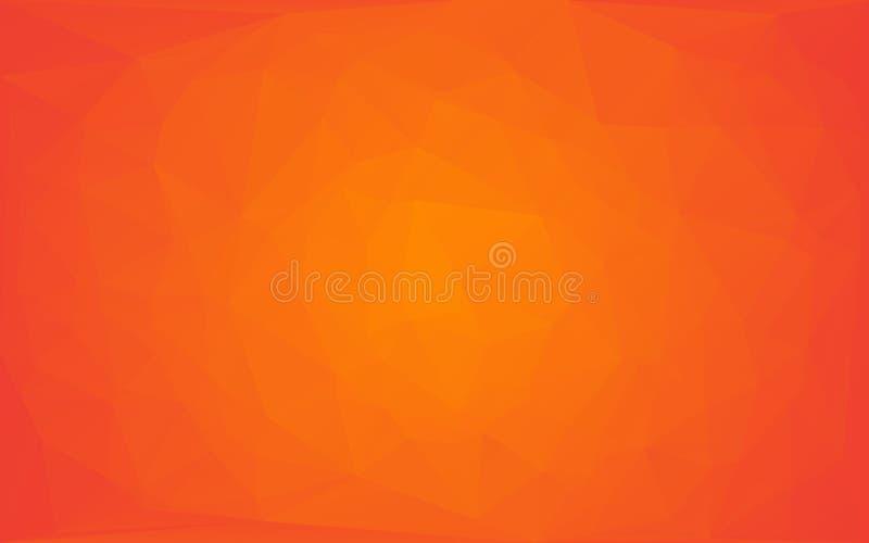 Fond rond jaune-orange de vecteur abstrait de mosaïque de polygone illustration de vecteur