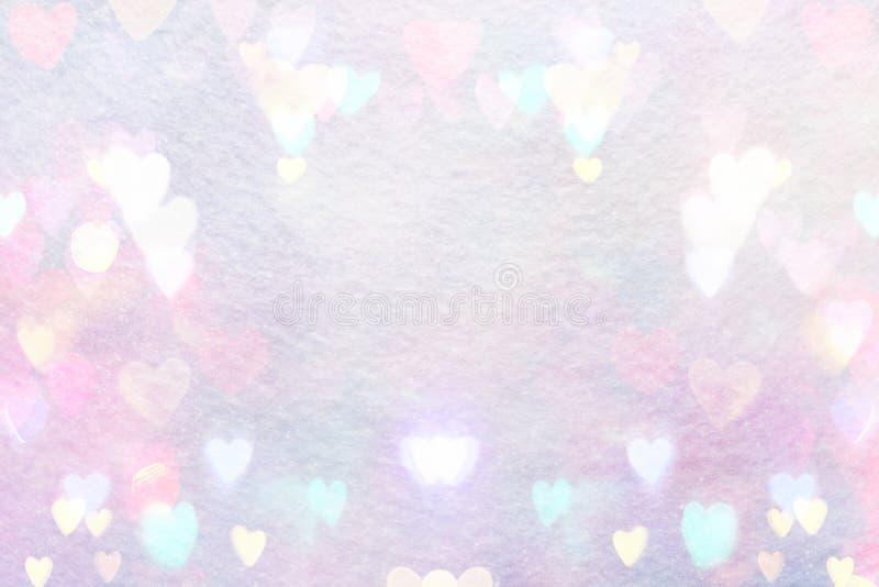 Fond rose abstrait avec des coeurs illustration stock