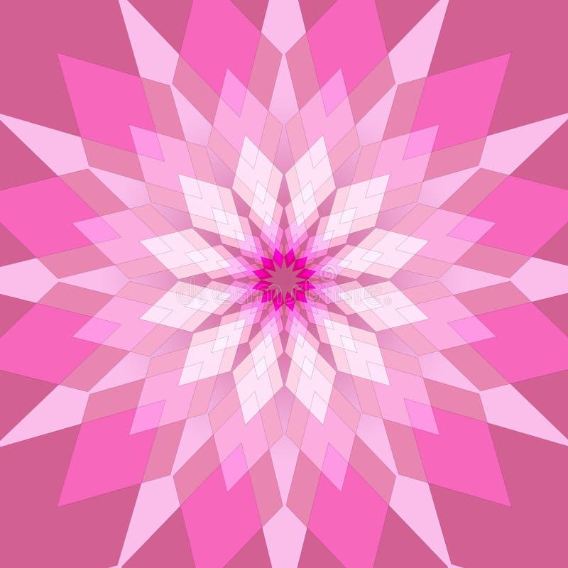 Fond rose abstrait avec le losange photos stock