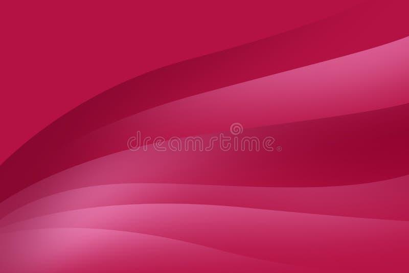 Fond rose abstrait avec les lignes douces, conception futuriste illustration stock