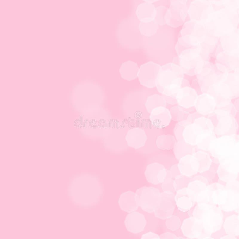 Fond rose abstrait pour l'anniversaire illustration stock