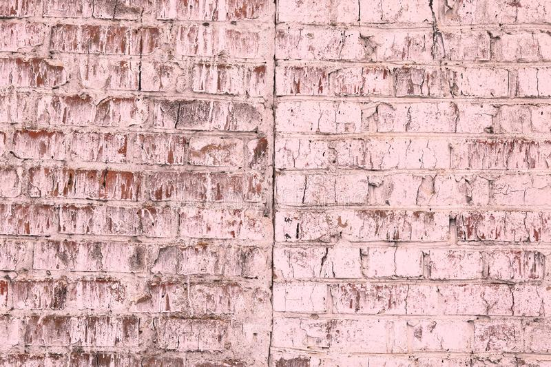 Fond rose abstrait satur? lumineux peu commun de vieux mur de briques images libres de droits
