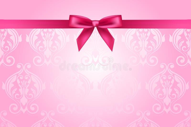 Fond rose avec l'arc illustration libre de droits