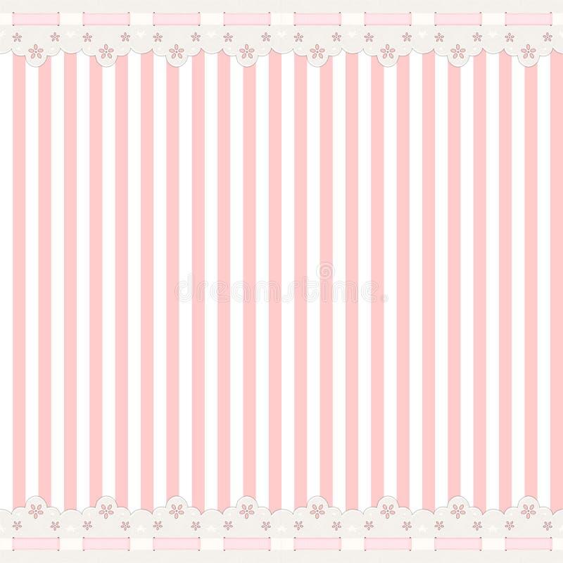 Fond rose avec le cadre de lacet illustration libre de droits
