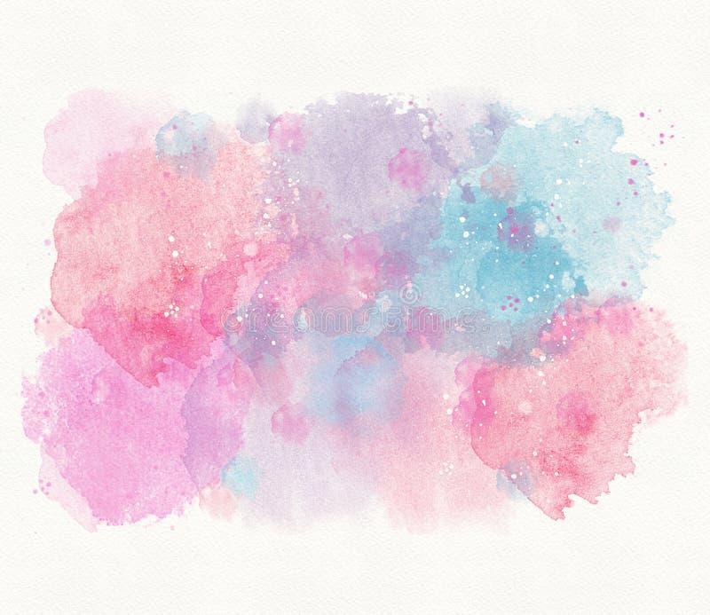 Fond rose bleu abstrait d'aquarelle, divorce, tache illustration de vecteur