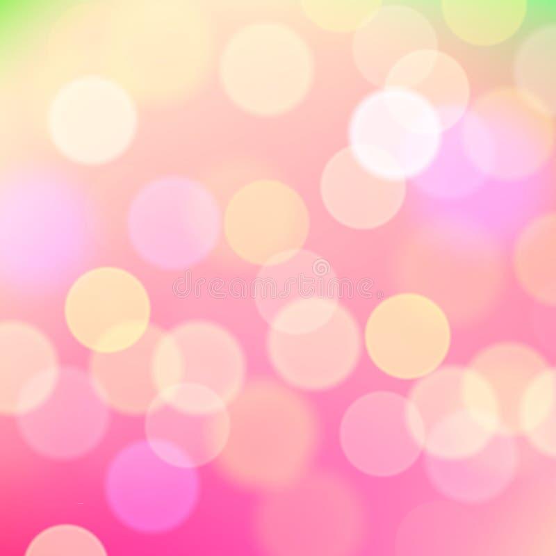 Fond rose brouillé par résumé des lumières de vacances illustration stock