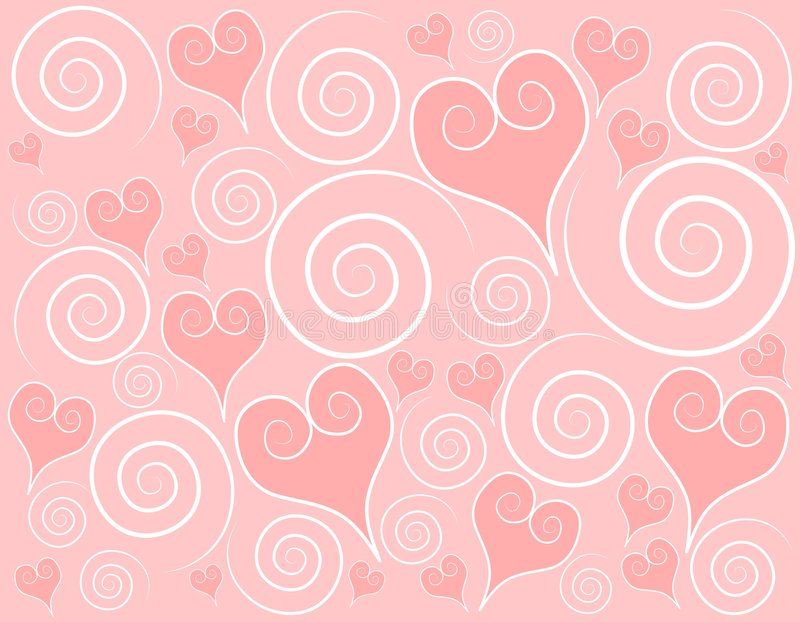 Fond rose-clair de remous de coeurs