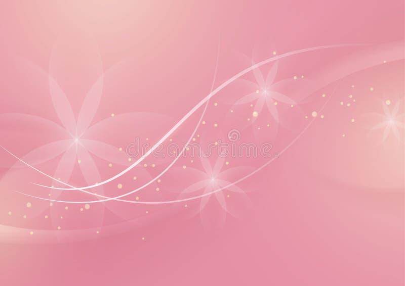 Fond rose-clair floral abstrait pour la conception illustration de vecteur