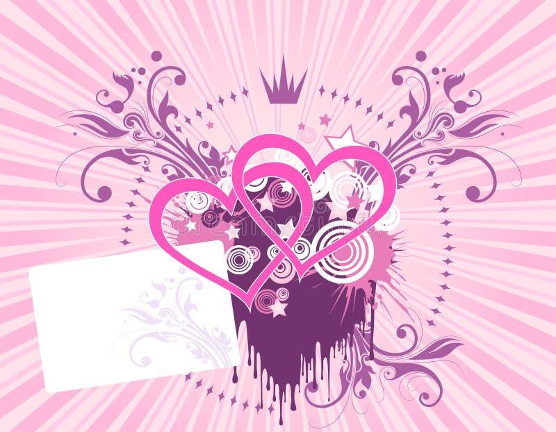Fond rose de coeur illustration de vecteur
