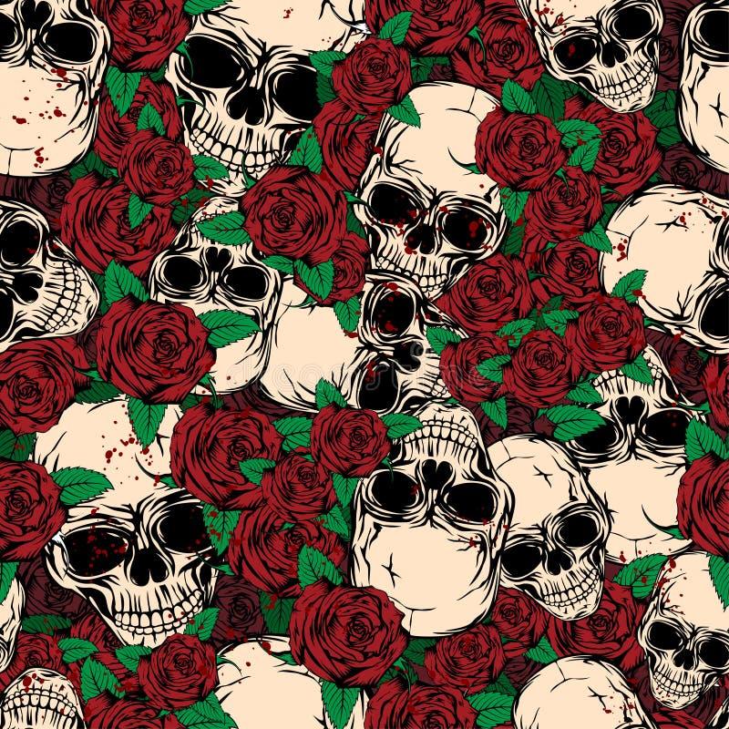 Fond rose de crâne illustration libre de droits