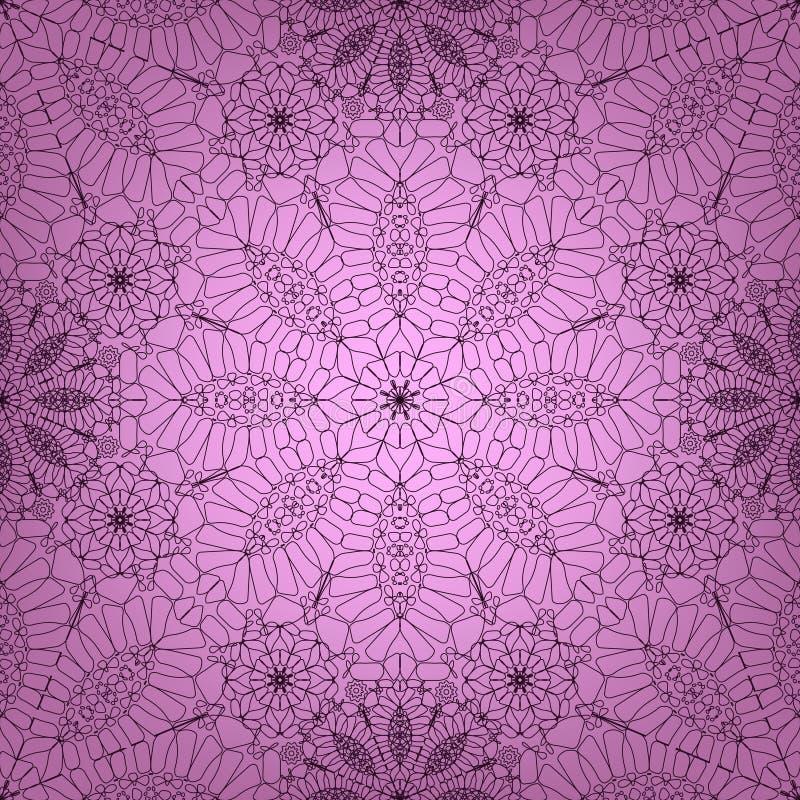 Fond rose de dentelle illustration de vecteur