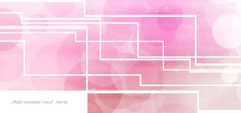 Fond rose de forme illustration de vecteur