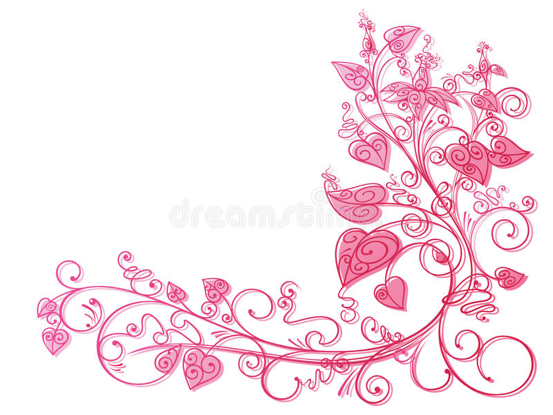 Fond rose de lacet de lierre illustration stock